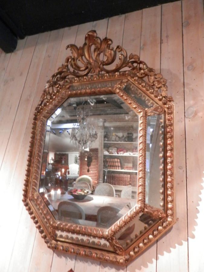 miroir pareclose 19i m bois dor d coration sortie 10 les antiquaires de stockel. Black Bedroom Furniture Sets. Home Design Ideas