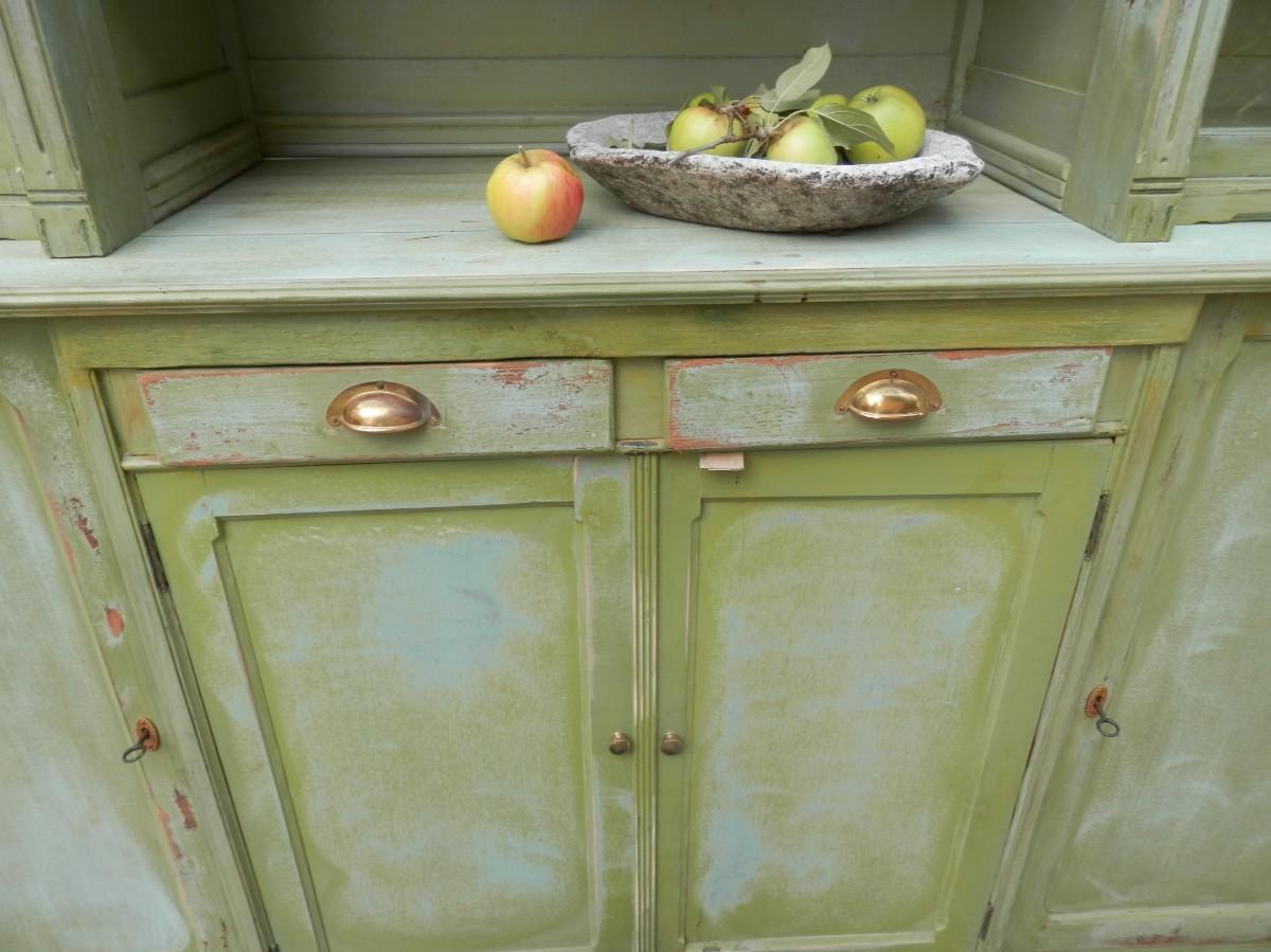 vaisselier de cuisine patine verte sortie 10 recent added items european antiques. Black Bedroom Furniture Sets. Home Design Ideas